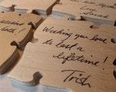 70 Piece Wedding Guest Book Puzzle Unique Wood Guest Book Alternative