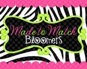 Made to Match Bloomers