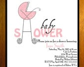 Customized Printable Baby Shower Invitation Cards DIY