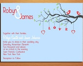 Love Birds Wedding Invitation PRINTABLE / DIY