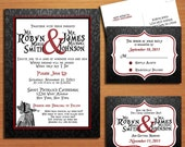 Queen of Hearts / Alice in Wonderland Modern Wedding Collection / Invitation / RSVP / Save the Date Postcard PRINTABLE / DIY