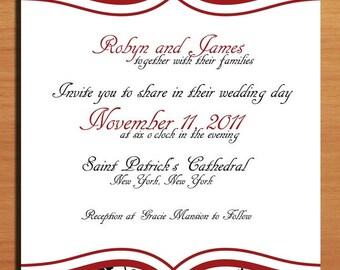 Fancy Floral Wedding Invitation PRINTABLE / DIY