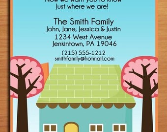 Moving Announcement / Charming House / Customized Printable DIY