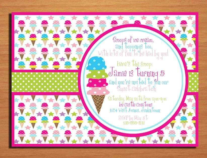Ice Cream / Sweet Celebration Birthday by Sapphiredigitalworks