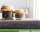 Home Decor - Glass Jars with Natural Elements - Rustic Decor -  Brown - Country Style - Cottage Chic