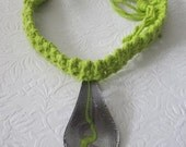 Lime Green Spoon Necklace