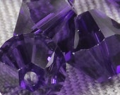 12 PURPLE VELVET Crystalized Austrian SWAROVSKI Crystals 5328 Xilion Faceted Bicone 6mm, Jewelry Supplies - beadconet 1069