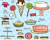 Sugary Sweets Vector Graphics Set for Personal and Commercial Use