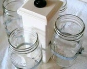 Rotating Ball Jar Desk Caddy, Large, Kitchen Utensil Caddy, Desk Organizer, Utensil Caddy, Paint Brush, Pen, Pencil Holder