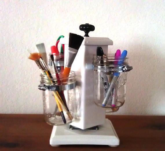 Items Similar To Rotating Ball Jar Desk Caddy Mason Jar