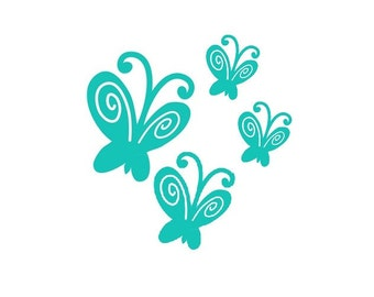 Set of 4 Butterflys - Vinyl Wall Art
