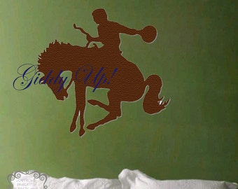 Cowboy Giddy Up - Vinyl Wall Art
