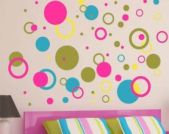Bedroom Circles - Vinyl Wall Art