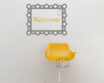 Welcome with Bubble Frame - Vinyl Wall Art