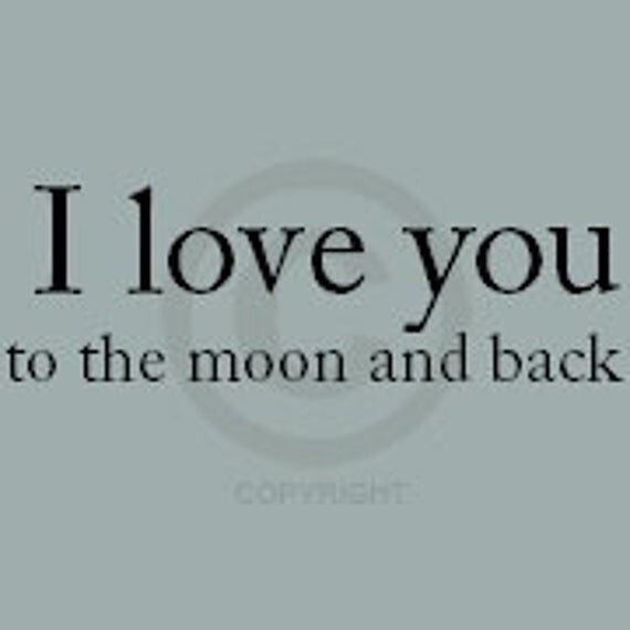 I love you to the moon and back - Vinyl Wall Art