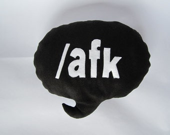 afk Speech Bubble Cushion