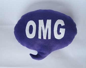 OMG Speech Bubble Cushion