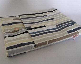 "13"" Macbook Laptop Case - Multi Stripe Blue"