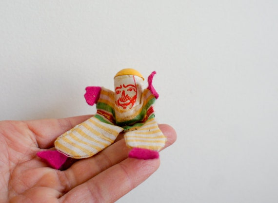 RESERVED  vintage french party favors, set of 3 tumbling clowns