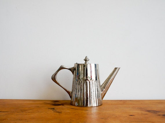vintage french coffee pot in silver from the early 1940's