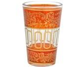 Moroccan Amber Tea Glasses   style mini Ballar (set of 6)