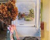 Vintage Blue Ball Mason Jar Rustic Farmhouse Primitive Vase Storage Cottage Chic Home Decor