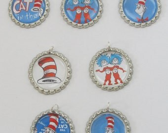 Dr. Seuss Bottlecap Necklace Party Favors