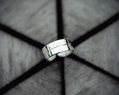 Silver Ogham Toe Ring for ELDER Tree Signs Nov 25th - Dec 22nd