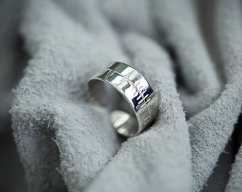 Silver Ogham Toe Ring for ASH Tree Signs Feb 18th - March 17th