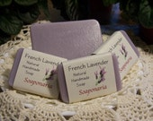 French Lavender Handmade Soap. Relaxing Lavender will calm and soothe you after a long day.