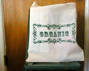 100% Organic cotton shopping bag.