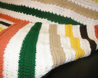 Spring is in the air - knitted blanket.