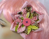 Stripes Pin-Up Hair Flower