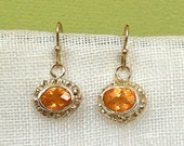 Gold and Silver Sunburst Earrings