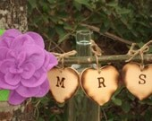 Mr and Mrs Chair Sign Lilac Purple Flowers- Ready to Ship