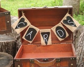 Chalkboard and Burlap Wedding Box - Wedding Card Box- Chalkboard and Bulap Collection - Includes a Chalk Ink Marker