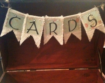 CARD Box Banner - Handmade to Order - Ask for Custom Colors or Style