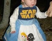 STAR WARS Applique Dress Custom size 12 months- 8