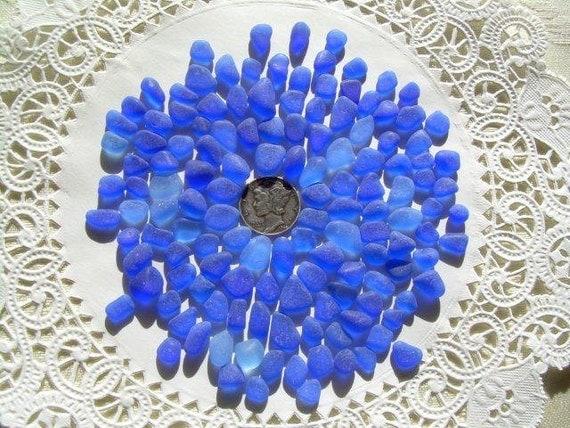 COBALT BLUE tiny beach Sea Glass   CC-404-A-135