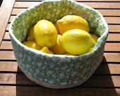 Soft Bread & Fruit Basket - green floral