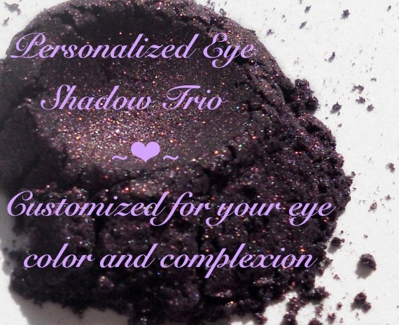 Personalized Eye Shadow Trio, Customized just for you
