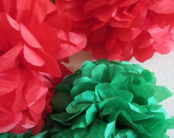 Tissue Paper Pom Poms Set of 8 ...YOU PICK COLORS