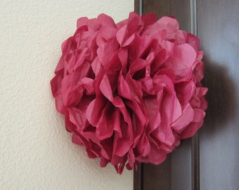 Tissue Paper Pom Poms 1 large...YOU PICK COLOR