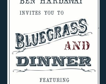 Bluegrass Party Invitation