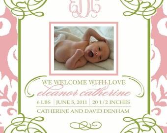 Whimsical Birth Announcement