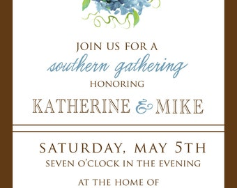Elegant Wedding Shower Invitation- Southern Engagement Party