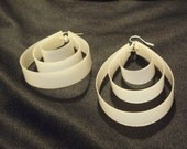 20% off Black Friday Deal Recycled/ Upcycled White Minimalist Earrings