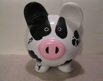 Piggy Bank, Personalized, Handpainted, Moolah/Cash Cow Piggy Bank - MADE TO ORDER w/Free Personalization