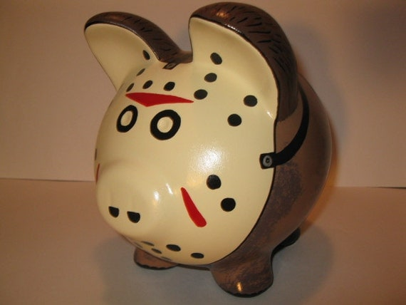 Jason Voorhees/Friday the 13th  Piggy Bank - MADE TO ORDER