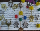 Repurposed Vintage Lyre Sheet Music, Picture, Recipe, Memo Holder for the Musician in YOU
